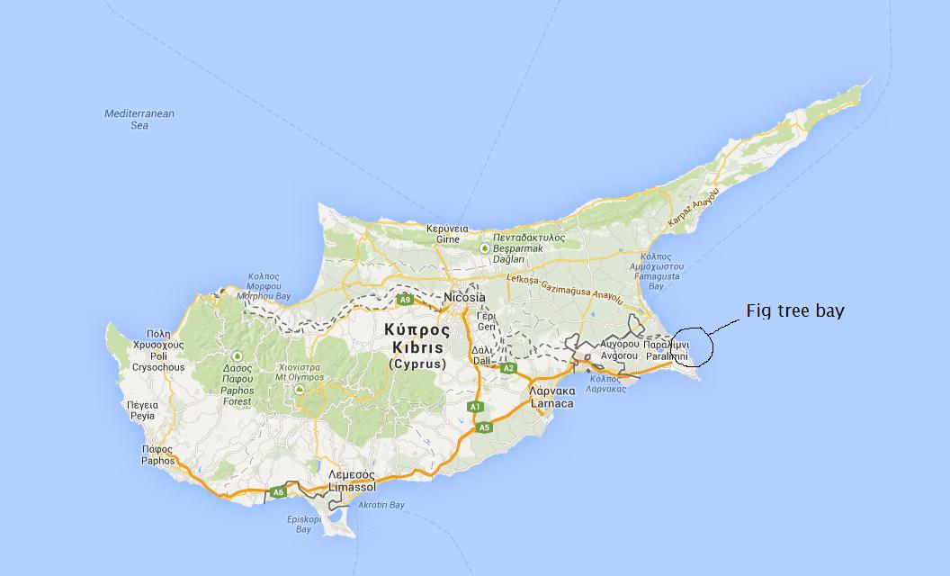 kart over fig tree bay kypros Kypros og Sun Connect Protaras | Reisemamma kart over fig tree bay kypros